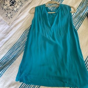 L'AGENCE Silky Turquoise Top